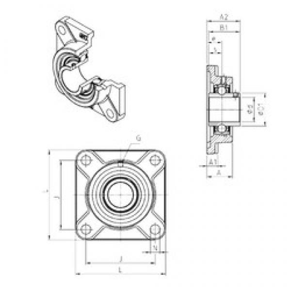 SNR UCF310 bearing units #3 image