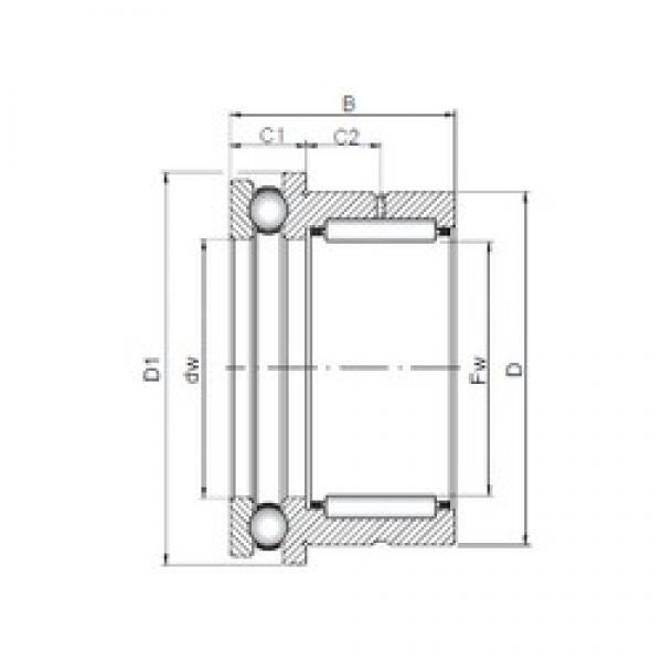 35 mm x 47 mm x 30 mm  35 mm x 47 mm x 30 mm  ISO NKX 35 complex bearings #3 image