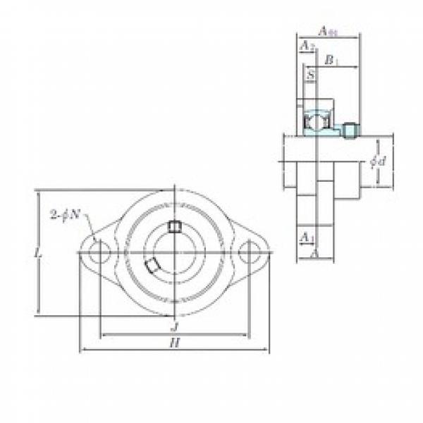 KOYO ALF206-20 bearing units #3 image