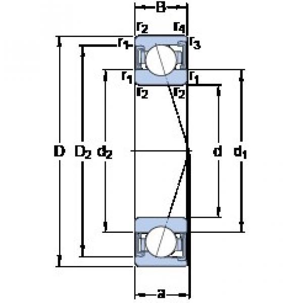 90 mm x 140 mm x 24 mm  90 mm x 140 mm x 24 mm  SKF S7018 CD/P4A angular contact ball bearings #3 image