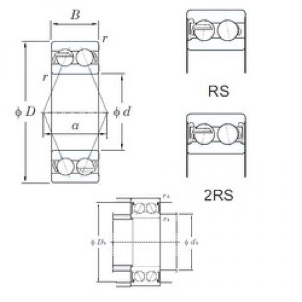 45 mm x 100 mm x 39.7 mm  45 mm x 100 mm x 39.7 mm  KOYO 5309-2RS angular contact ball bearings #3 image