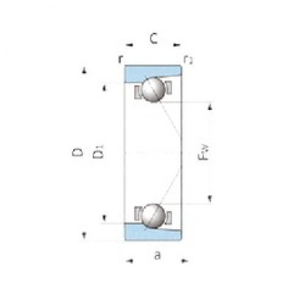 IJK ASA3044 angular contact ball bearings #3 image