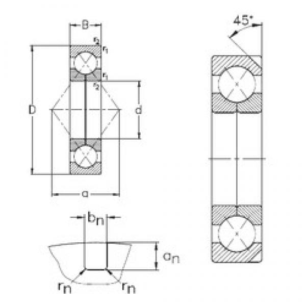 180 mm x 380 mm x 75 mm  180 mm x 380 mm x 75 mm  NKE QJ336-N2-MPA angular contact ball bearings #3 image