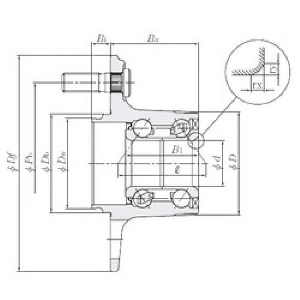 NTN HUB156-37 angular contact ball bearings #3 image