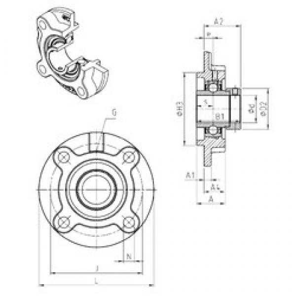 SNR EXFC204 bearing units #3 image