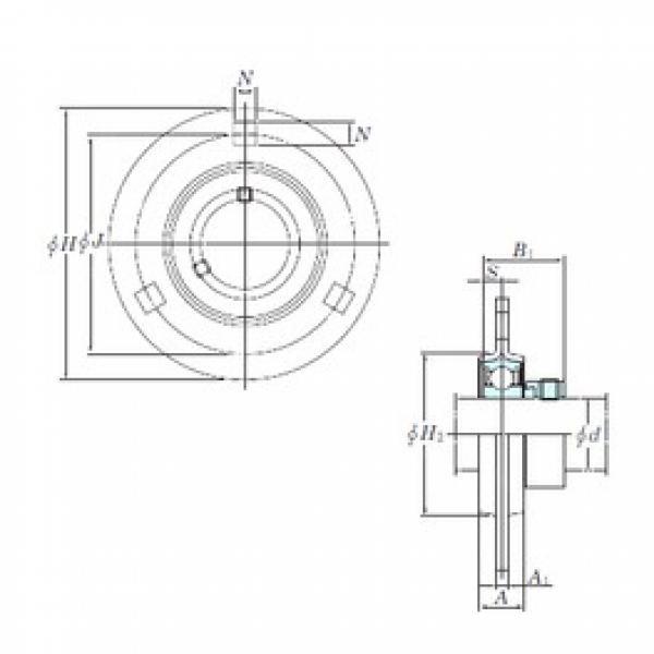 KOYO SAPF206 bearing units #3 image