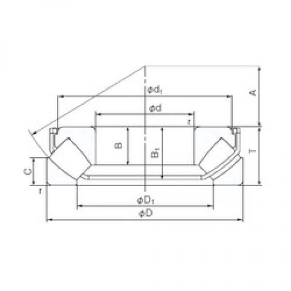 85 mm x 150 mm x 25 mm  85 mm x 150 mm x 25 mm  NACHI 29317EX thrust roller bearings #3 image