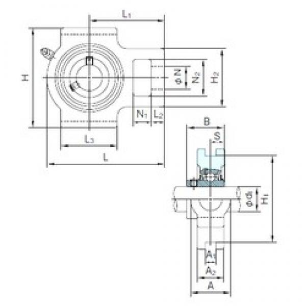 NACHI UCT311 bearing units #3 image