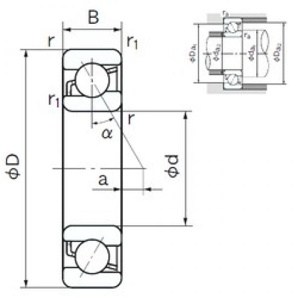 190 mm x 340 mm x 55 mm  190 mm x 340 mm x 55 mm  NACHI 7238B angular contact ball bearings #3 image