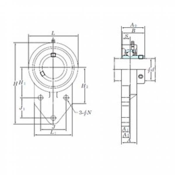 KOYO UCFB207 bearing units #3 image