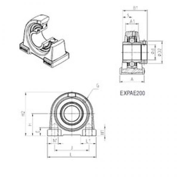 SNR EXPAE204 bearing units #3 image