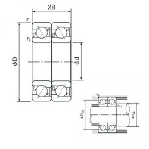 160 mm x 290 mm x 48 mm  160 mm x 290 mm x 48 mm  NACHI 7232CDT angular contact ball bearings #3 image