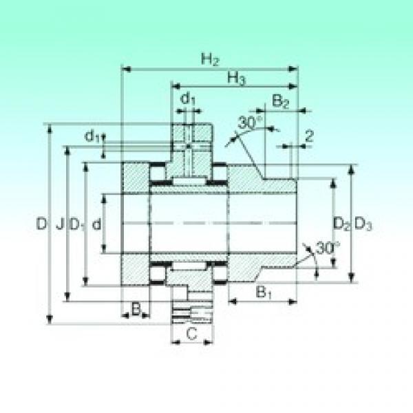 75 mm x 185 mm x 21 mm  75 mm x 185 mm x 21 mm  NBS ZARF 75185 L TN complex bearings #3 image