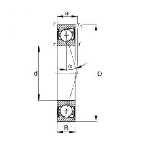25 mm x 52 mm x 15 mm  25 mm x 52 mm x 15 mm  FAG B7205-C-2RSD-T-P4S angular contact ball bearings #3 image