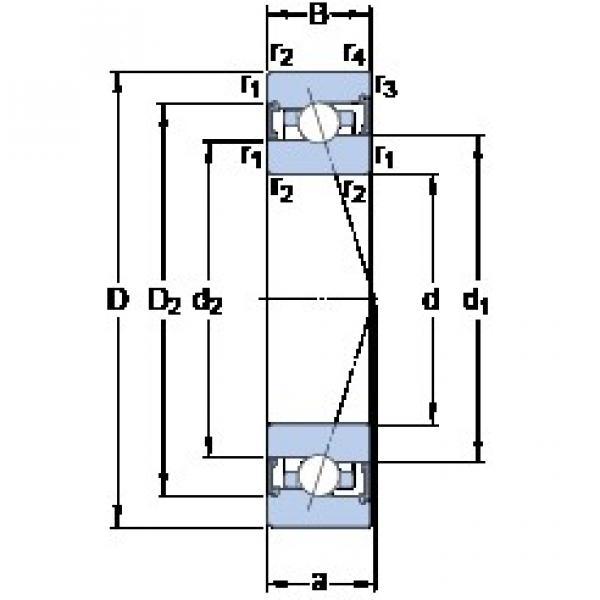 100 mm x 140 mm x 20 mm  100 mm x 140 mm x 20 mm  SKF S71920 ACB/P4A angular contact ball bearings #3 image