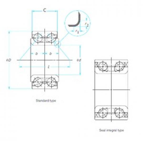 38 mm x 74 mm x 40 mm  38 mm x 74 mm x 40 mm  NSK 38BWD10B angular contact ball bearings #3 image