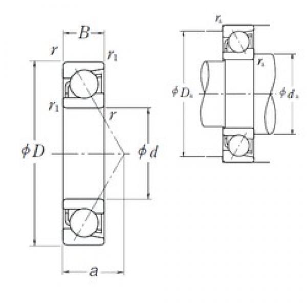 35 mm x 55 mm x 10 mm  35 mm x 55 mm x 10 mm  NSK 7907 A5 angular contact ball bearings #3 image