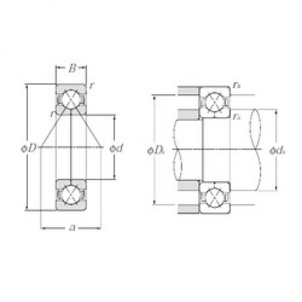 70 mm x 150 mm x 35 mm  70 mm x 150 mm x 35 mm  NTN QJ314 angular contact ball bearings #3 image
