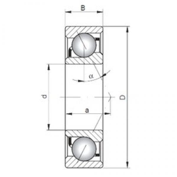 35 mm x 55 mm x 10 mm  35 mm x 55 mm x 10 mm  ISO 71907 C angular contact ball bearings #3 image