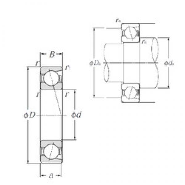 20 mm x 52 mm x 15 mm  20 mm x 52 mm x 15 mm  NTN 7304B angular contact ball bearings #3 image