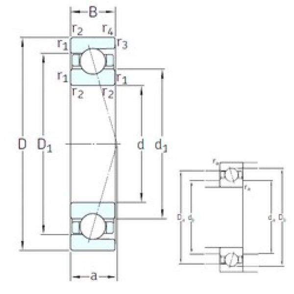 45 mm x 58 mm x 7 mm  45 mm x 58 mm x 7 mm  SNFA SEA45 7CE3 angular contact ball bearings #3 image